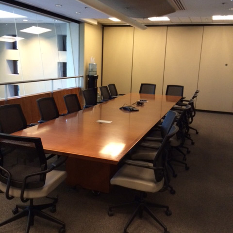 Boardroom cleaned by MJ Company